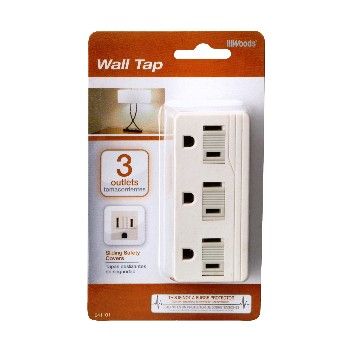 Grounded 3 Outlet Wall Tap