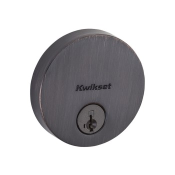 Uptown Low Profile Round Deadbolt - Venetian Bronze