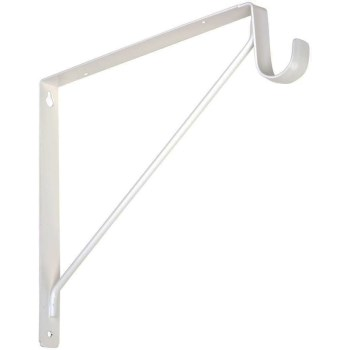 Shelf & Rod Bracket - 108bc White