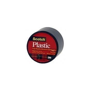 3M 02120000021 Plastic Tape - Black - 1.5 x 125 inch