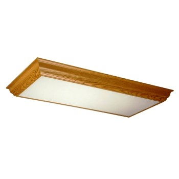 Crown Moulding Fixture, T8 Ballast ~ Medium Oak Finish