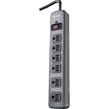 Woods Brand 6 Outlet Surge Protector w/3' Cord
