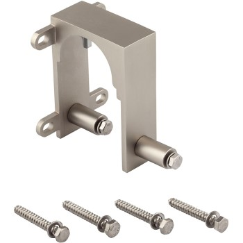 Sliding Door Bypass Bracket Hardware ~ Satin Nickel