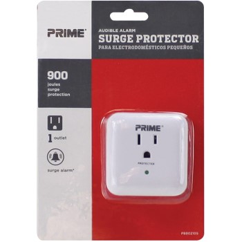 1 Outlet Wall Tap Surge Protector w/Alarm