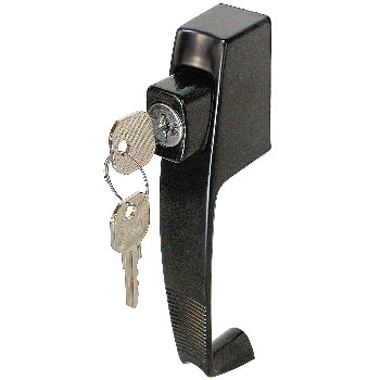 Push Button Latch, Keyed ~ Black
