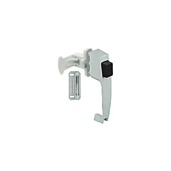 White Push Button Latch, Visual Pack 1316
