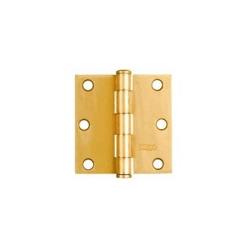 Door Hinge,  Satin Brass -Visual Pk 512 3 x 3""
