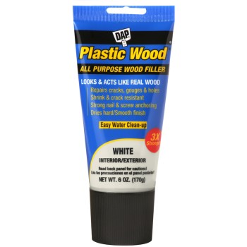 Plastic Wood All Purpose Wood Filler, White ~ 6 oz