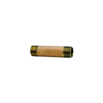 Nipple - Red Brass - 0.5 x 2.5 inch