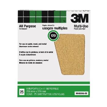 3M 051144994038 Sandpaper, Aluminum Oxide ~ 120 grit