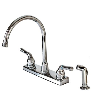 Kitchen Faucet w/Sprayer, 2-Handle,  Non-Metallic