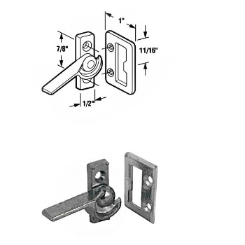Sliding Window Latch ~ Right Hand ~ Bright Zinc