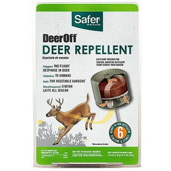 Safer Brand DeerOff  Deer Repellent ~  6 Stations