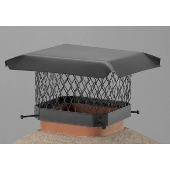 Hy-C  SC99 Chimney Cap, Galvanized Black 9 x 9 inch