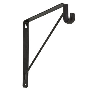 Shelf and Rod Bracket,  Oil Rubbed Bronze Finish