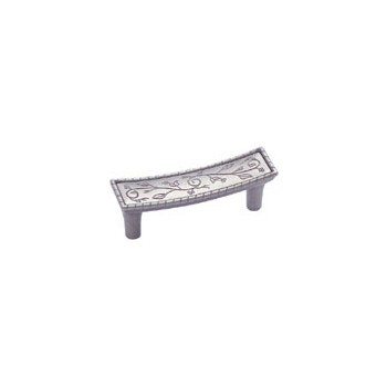 Pull - Vineyard Crescent Weathered Nickel Finish - 3 inch