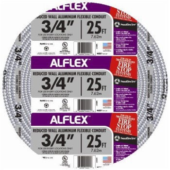 Alflex Aluminum Conduit ~ 25 ft.