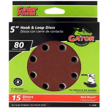 Ali Industries 4142 Hook & Loop Sanding Disc, 80 Medium Grit ~ 5""