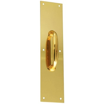 Solid Brass Pull Plate, Visual Pack 1984 3 - 1/2 x 15 inches
