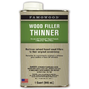 Wood Filler Solvent ~ Quart