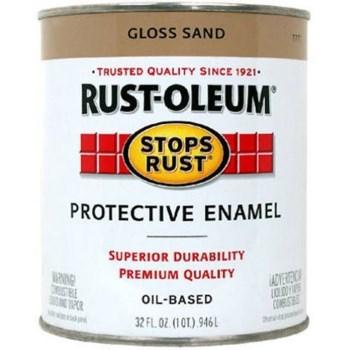 Rust-Oleum 7771502 Stops Rust Protective Enamel, Gloss Sand ~  Quart