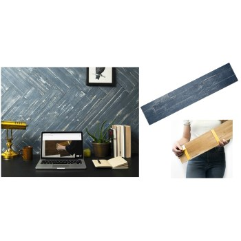 "Mywoodwall Peel & Press Pre-Finished Wall Paneling,  Blue Ocean  ~  23-5/8""L x 4-7/8"" W x 3/8"" D"