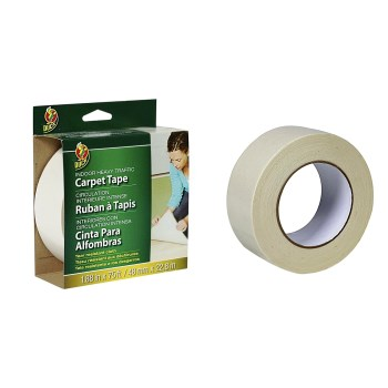 "Shurtech  442061 Duck Brand Heavy Traffic Carpet Tape,  White ~  1.88"" x 75 Ft"