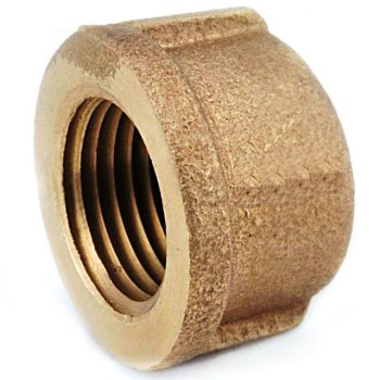 Lead Free Pipe  Cap,  Rough Brass  ~ 1/2""