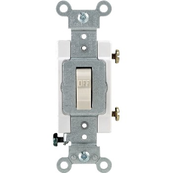 Commercial Grade Quiet Toggle Switch - 20 Amp ~ Light Almond