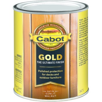 Gold Ultimate Finish Stain, Sunlit Walnut ~ Quart