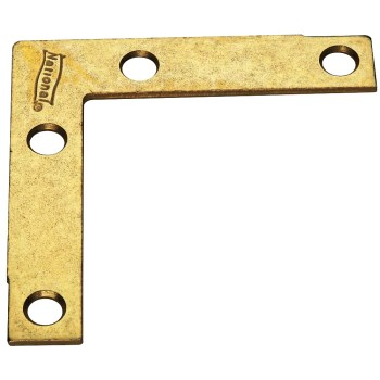 Brass Flat Corner Brace,  2 1/2 inches