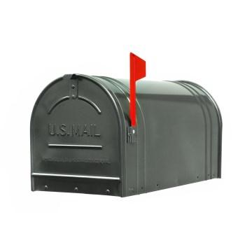 "Fulton 2-1 Extra Large Post Mount Steel Mailbox, Gunmetal Silver ~  11""W x 12""H x 23-1/2""L"