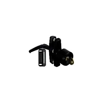 National 178806 Satin Black  Keyed Knob Latch, Visual Pack 1308
