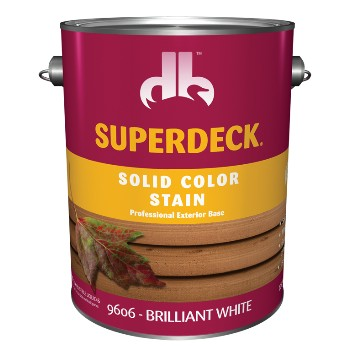 Solid Color Stain, Brilliant White ~ Gallon