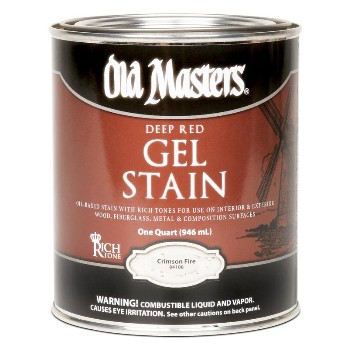 Old Masters Gel Stain, Crimson Fire ~ Quart