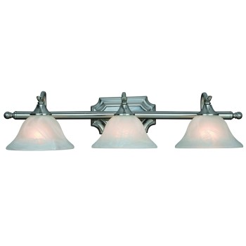 Dover Series 3 Light Wall Light, Satin Nickel