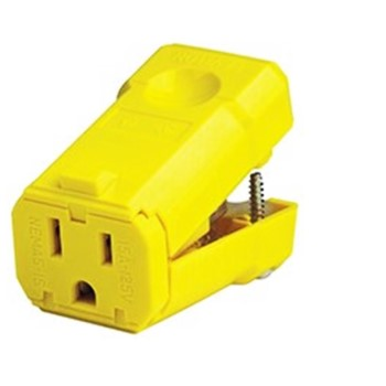 Python Grounded Outlet, 15A/125V ~ Yellow
