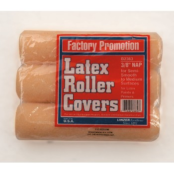 "Roller Covers, 3 Pack ~ 9"" x 3/8"""