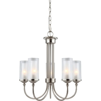 Lexington Chandelier, 5 Light ~ Satin Nickel