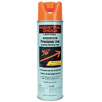 Rust-Oleum 203027 Inverted Marking Paint, Fl Orange ~ 17 oz Spray