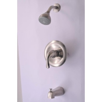 Tub & Shower Mixer Brushed Nickel