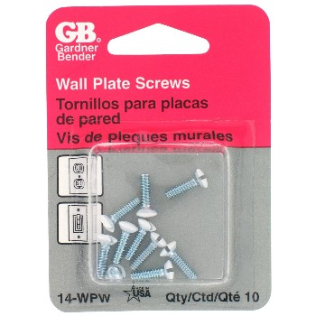 Gardner Bender  14-WPW Wall Plate Screws, White