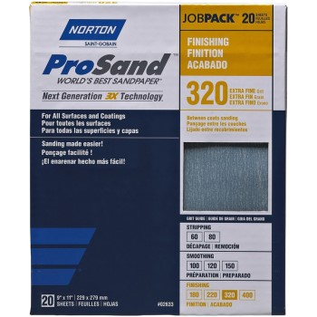 Sanding Sheets #02633, 3X High Performance ~ 320 grit