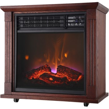 Comfort Glow Infrared Portable Electric Quartz Fireplace