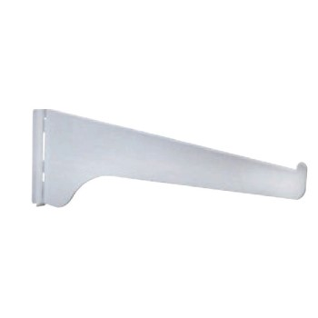 Boltless Shelf Bracket, White ~ 6""