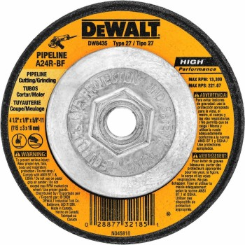 "Pipeline Cutting Wheel, High Performance ~ 4.5"" x 1/8"" x 5/8""-11 Arbor"