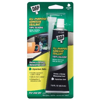 Adhesive Sealant, All Purpose  ~ Clear - 2.8 oz Tube