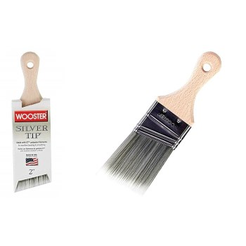 "Silver Tip® Short Handle Angle Sash Brush ~ 2"" W x 2 11/16"" L"