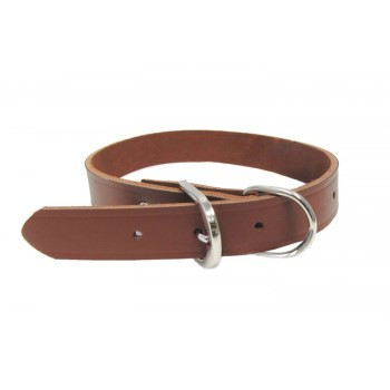 Warren Pet   30021 Leather Dog Collar, 1 x 21 inches