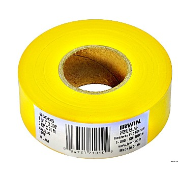 Flagging Tape,  Yellow - 300 ft